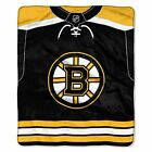 """Bruins OFFICIAL National Hockey League, """"Jersey"""" 50""""x 60"""" Raschel Throw  by The $36.71 USD on eBay"""