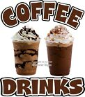 Coffee Drinks DECAL (Choose Your Size) Concession Food Truck Vinyl Sign Sticker