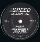 "JOHN DUMMER & HELEN APRIL   Blue Skies   7"" Single 1982 SPEED RECORDS 8"