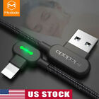 MCDODO USB Cable For iPhone Apple X 8 7 6S 6 Plus Fast Charging Cable 90 Degree