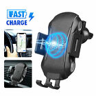 US Automatic Clamping Wireless Car Charging Charger Mount Air Vent Phone Holder