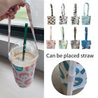 Portable Travel Waterproof Cup Cover Bags Cup Holder Bottle Cotton Floral Bag