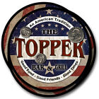 Topper Family Name Drink Coasters - 4pcs - Wine Beer Coffee & Bar Designs