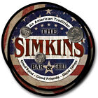 Simkins Family Name Drink Coasters - 4pcs - Wine Beer Coffee & Bar Designs
