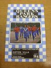 11/09/1976 Queens Park Rangers v Aston Villa  . Footy Progs are pleased to offer