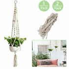 Home Flowers Holder Hanging Basket Handcrafted Braided Macrame Rope Plant Hanger