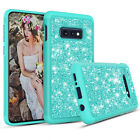 Dual-Layer Crystal Bling Glitter Hybrid Case Cover for Samsung Galaxy S10e