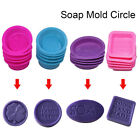 Home Square Round Oval Soap Moulds Silicone Chocolate Cake Baking Mold DIY