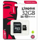 Kingston Canvas Select 16GB 32GB 64GB 128GB 256GB MicroSDHC SDXC UHS-I C10 SDCS