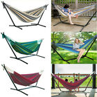 Double Premium Garden Hammock with Sturdy Steel Folding Stand Hanging Chair Seat