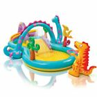 Dinoland Inflatable Play Center,31inX90inX44in,For Ages 3+,Inflatable Kid Pools.