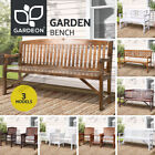 Gardeon Wooden Garden Bench 3 Seat Outdoor Chair Table Loveseat Patio Furniture