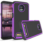 Dual-Layer Hybrid Rugged Tough Phone Case Cover for Motorola Moto Z3 / Z3 Play