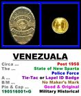 Lapel ID Badge • Venezuala • New Sparta State Pol' • 1950+ • 19051601•G