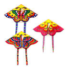 Внешний вид - 1Set 90*50CM outdoor sports butterfly flying kite children toy with handle line