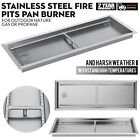 Linear Trough Drop-In Fire Pit Pan Natural Gas +Burner 20,24,25.5,31.5,37.5,49
