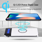 2019 New Qi Wireless Charger Power Bank 10000mAh LED LCD External Battery Pack