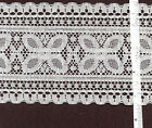 4.25 inch wide lace trim, White or Cream 15 yds lengths