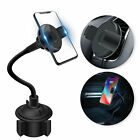 Wireless Fast Car Charger Mount Adjustable Gooseneck Cup Holder Cellphone Cradle