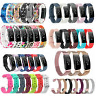For Fitbit Inspire/Inspire HR Soft Silicone/Stainless Steel Wrist Band Strap US image