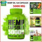 Hemp Oil Capsules 5000 mg - Best for Pain, Anxiety & Stress Relief 120 Capsules $28.48 USD on eBay