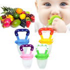 3PCS Baby Vegetable Fruit Supplement Feeder Teething Toy Ring Chewable Soother