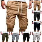 Men's Outdoor Cargo Shorts Summer Drawstring  Elastic Waist Casual Shorts