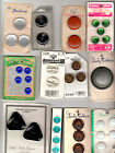 collectible vintage BUTTONS some ON ORGINAL  CARDS MATERIAL PLASTIC NO 10