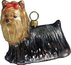 Yorkie+Yorkshire+Terrier+Dog+Polish+Blown+Glass+Christmas+Ornament