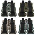 2019 Ford F150 Truck Seat Covers Front & Rear Set Camo Pattern Black Center ABF