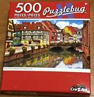 New Puzzlebug 500 Piece Puzzle Colorful Street w Beautiful Half Timbered Houses