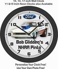 BOB GLIDDEN'S 1972 NHRA PRO-STOCK PINTO WALL CLOCK=CHEVROLET, DODGE, PLYMOUTH