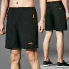 Men GYM Fitness Shorts Running Sport Workout Casual Training Pants With Pocket L
