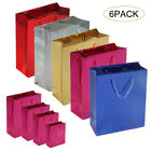 6 Pack Holographic Gift Bags Xmas Children's Birthday Party All Sizes And Colors