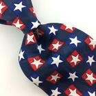 AMERICAN TRADITIONS USA TIE NAVY BLUE RED Lone Star Silk Necktie N4-312 New Ties