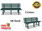 3 Colors Garden Patio Bench for Outdoor Use Made of Plastic 145.5 x 49 x 74 cm