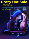 3.5MM GAMING HEADSET MIC LED G2000 HEADPHONE FOR PC LAPTOP PS4 SLIM XBOX ONE 360