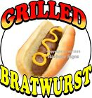 Grilled Bratwurst DECAL CHOOSE YOUR SIZE Food Truck Concession Sticker
