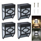 4x Outdoor Led Solar Wall Mount Powerful Light Garden Path Fence Courtyard Lamps