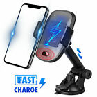 USA Wireless Car Mount Charging Auto Clamping Smart Sensor Charger Phone Holder