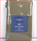 Vera Wang PILLOWCASES 100% PIMA Cotton 800tc Envelope Close Khaki Taupe ALLSIZES image