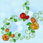 ROSES DECORATIVE  10 MACHINE EMBROIDERY DESIGNS CD or USB