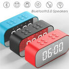 TF LED Digit Display With BT510 Large Alarm Clock With Dimmer Bluetooth Speaker