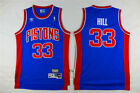 NEW Detroit Pistons #33 Grant Hill Retro Swingman Basketball Jersey Blue on eBay