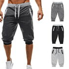 Summer Men's  Shorts Casual Elastic Waist Drawstring Jogging Sport Beach Pants