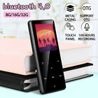 Portable bluetooth MP3 Music Player MP4 FM Hi-Fi Lossless Support up to 128GB