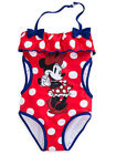 Disney Store Girls Minnie Mouse Summer Sparkler One-Piece Swimsuit, Red/Blue