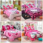 Hello Kitty Bedding Sets kids 4pc duvet cover bed sheet  twin full queen size image