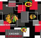 CHICAGO BLACKHAWKS NHL HOCKEY 100% COTTON FABRIC MATERIAL CRAFTS BY THE 1/2 YARD $8.91 USD on eBay