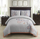 Chezmoi Collection Naomi 3-piece Paisley Floral Embroidered Duvet Cover Set image